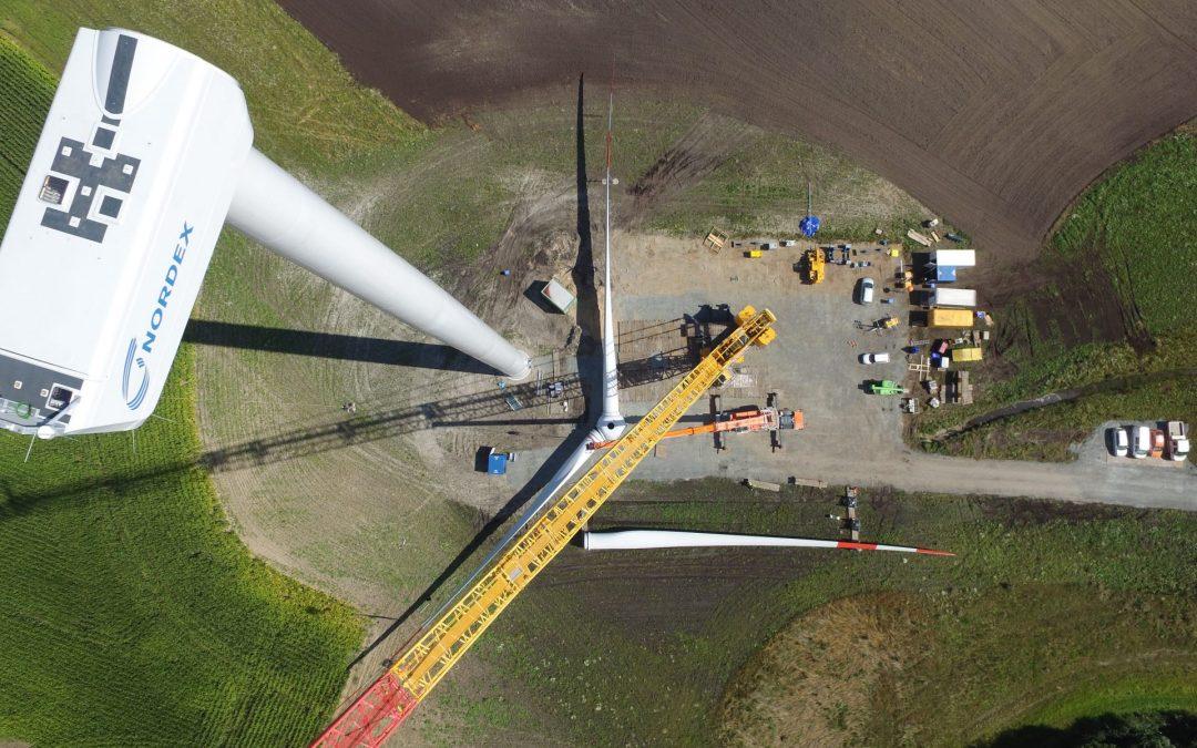 Windkraftbau